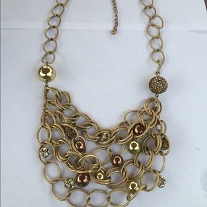 Chico's Ball And Chain Swag Necklace